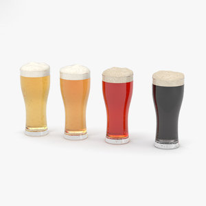 3D model weizen beer