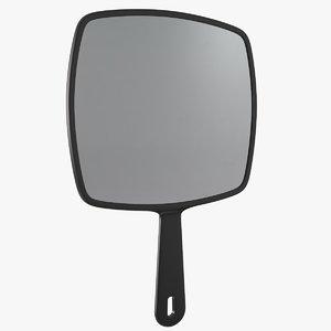 3D hairdresser mirror model