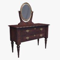 victorian mirror dresser model