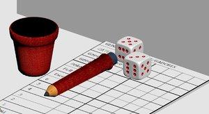 3D pencil dice