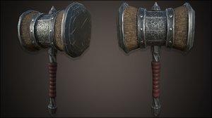 3D stylazed hammer model
