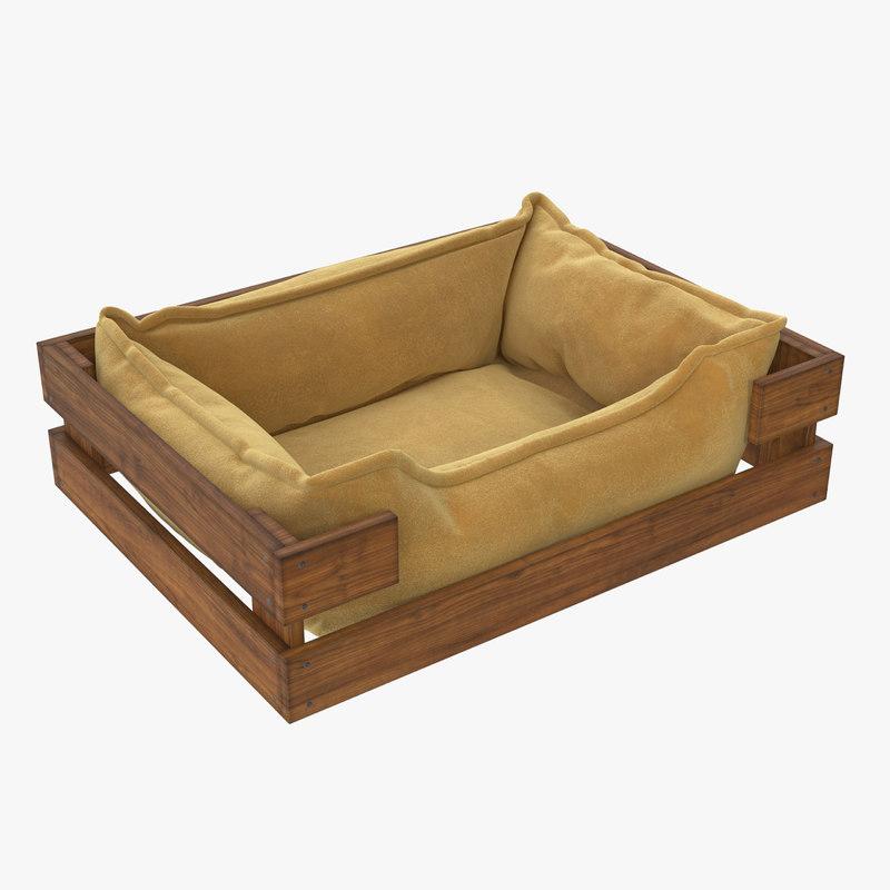 pet bed caramel velours 3D