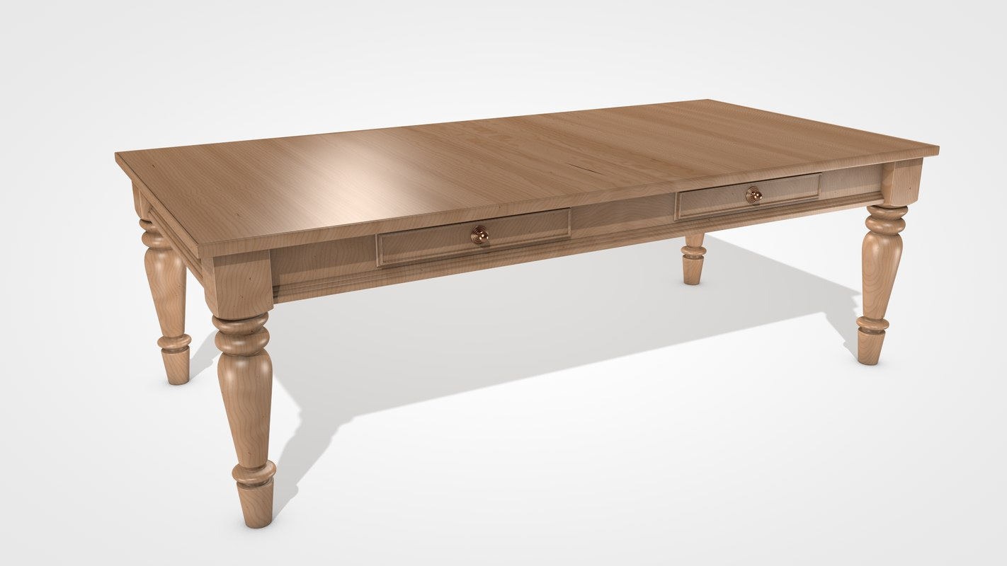 farmhouse table 3D model