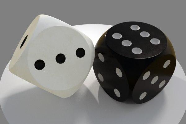 games dice 3D model