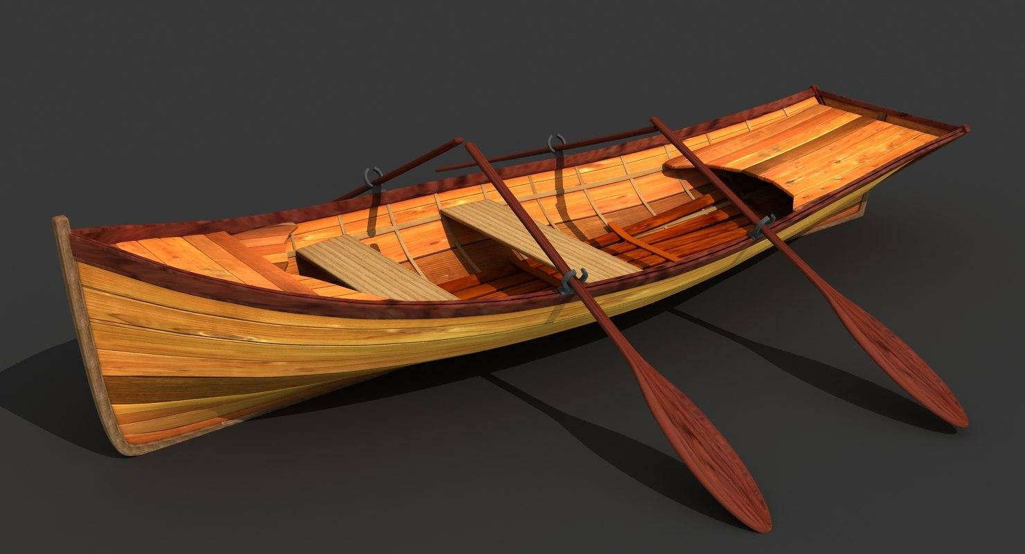 wooden boat model