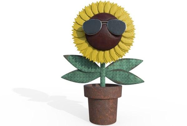 cool sun flower 3D