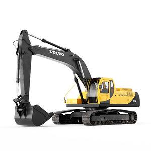 3D model excavator ec 290