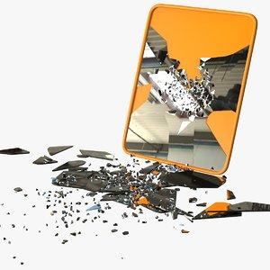 rectangular mirror broken 3D model