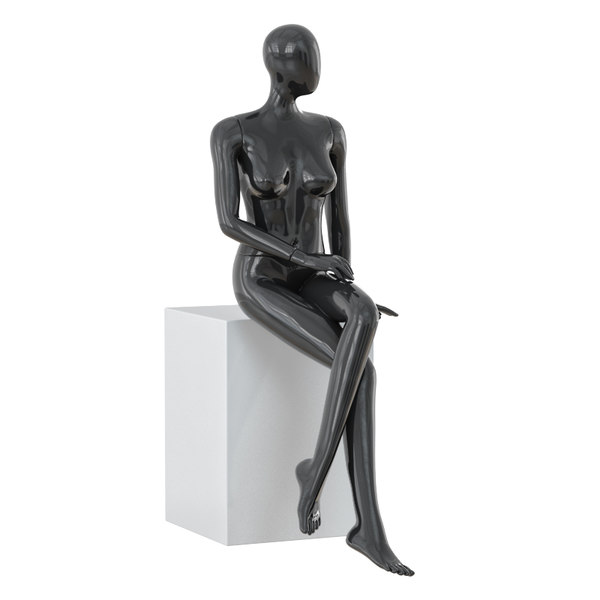 3D abstract female mannequin model