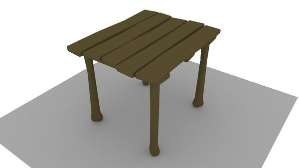 old wooden table model