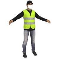 3D man vest