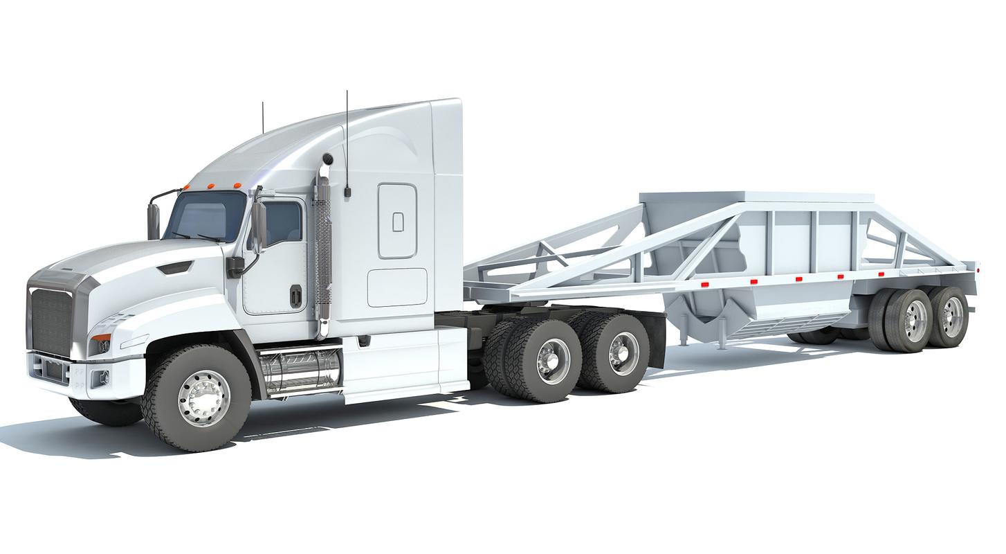 truck dump trailer 3D