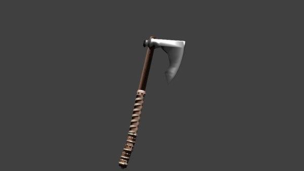3D model old axe