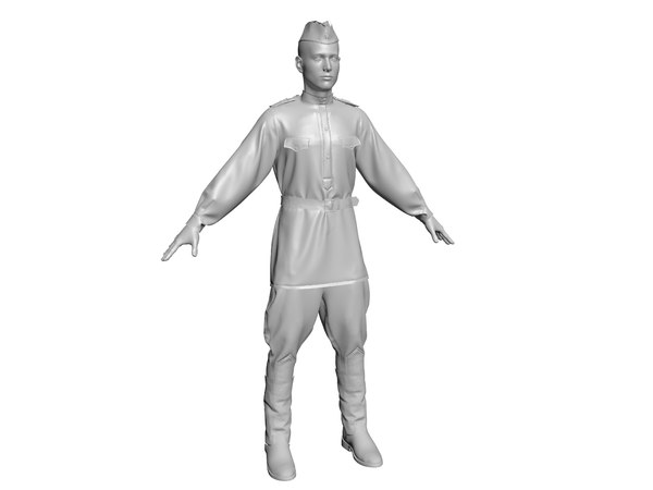 military soldiers 3D model