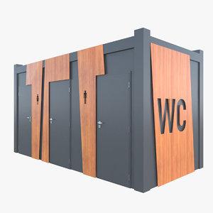 public toilet kiosk 3D model