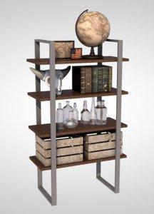 shelf rustic bathroom 3D model