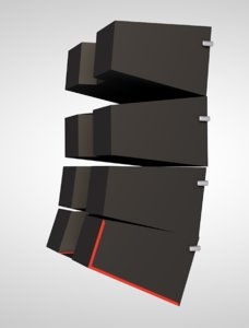 speaker line array 3D model