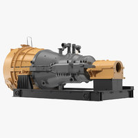 steam turbine generic industrial 3D model