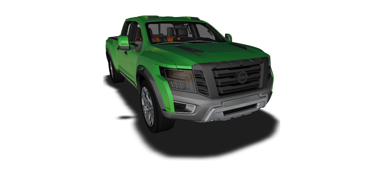 3D nissan titan 2017 model