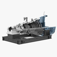 3D cross section steam turbine