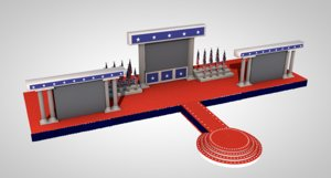 3D award stage
