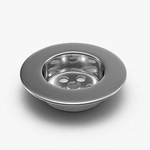 3D sink strainer drain