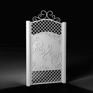 3D wicket gate model