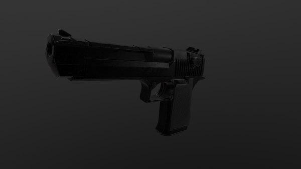 3D desert eagle handgun model