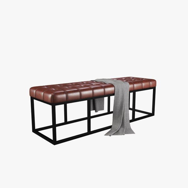 leather bench 3D model