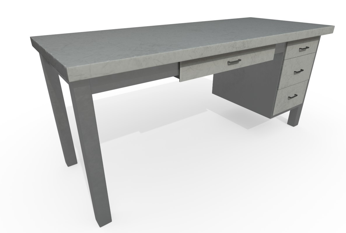 3D industrial desk model