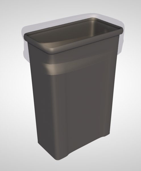 trash trashcan plastic 3D model