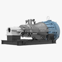 siemens sst-800 steam turbine 3D model