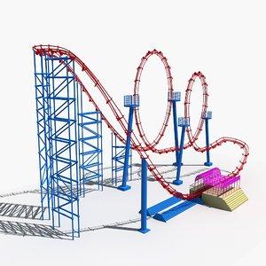 3D roller coaster 3 model