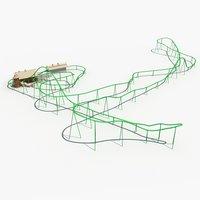 roller coaster 4 3D model