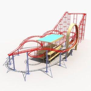 roller coaster 1 3D model