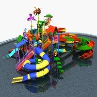 3D model water park