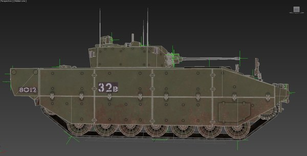 vehicle british army 3D