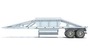 3D dump trailer model