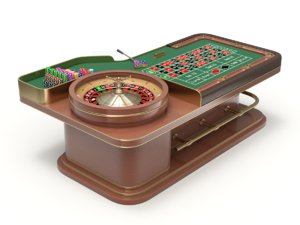3D european american roulette wheel