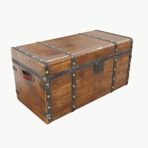 3D old chest 01