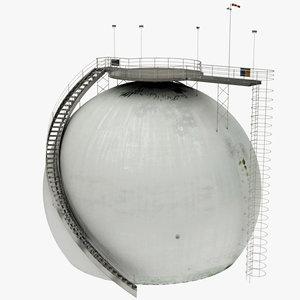 3D realistic storage tank model