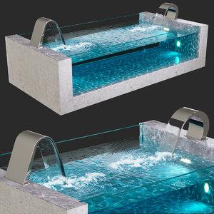 pool water waterfall niagara 3D model