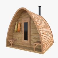 3D model sauna pod