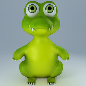 alligator toy look model