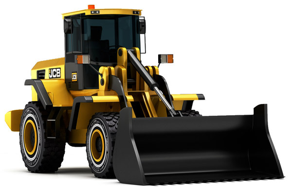 3D model excavator machine