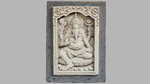 hindu god ganesh stone model