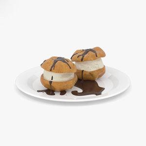 3D cake dessert model