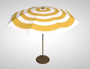 3D umbrella parasol sun