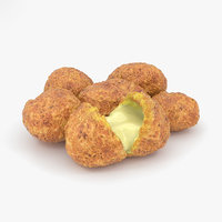 3D cheese curds model