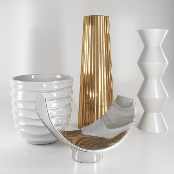 3D decorations vases